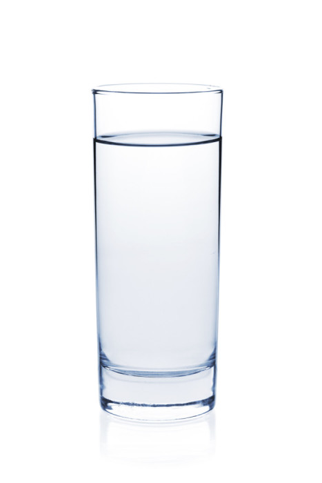Soda water in glass